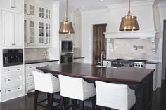 Amazing kitchen with Single Sloane Street Shop Lights with Metal Shades in Antique Brass
