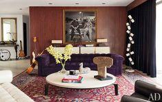 Adam Levine-that mohair velvet sofa & photo