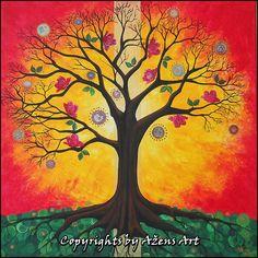 THE TREE OF BALANCE Mixed media on canvas: 60 x60 cm