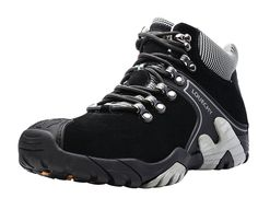 Louechy Men's Hotanear Mid Hiking Boots Trekking Shoes Outdoor Sneakers ** Want additional info? Click on the image.