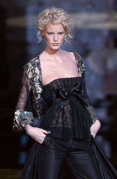 Fabulous curly updo at Elie Saab