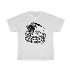 Victory Royal Flush White - Unisex Short Sleeve Tee Short Sleeve Tee, Short Sleeves, Casual Elegance, White Tees, Cotton Tee, Victorious, Graphic Tees, Unisex, Mens Tops