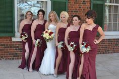 burgundy and whites for special ladies in this wedding