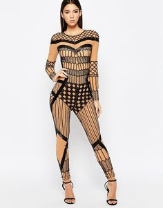 ASOS+NIGHT+Illusion+Unitard+with+Barely+There+Embellishment