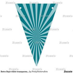 Retro Rays white transparent + your idea Bunting Flags