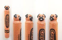 Custom Dog Portrait Crayon Carvings by Hoang Tran