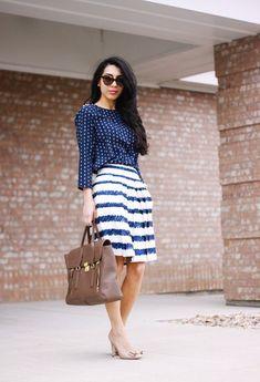 mixed prints, fashion, style, trends, polka dots