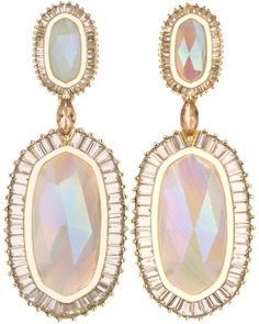 Baguette Hourglass Earrings in Iridescent Agate - Kendra Scott Jewelry.