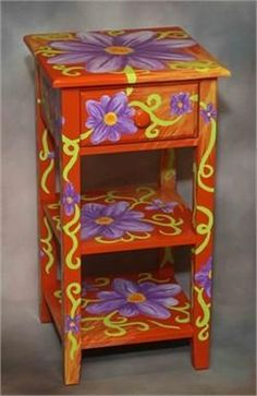 ... and Artist painted furnishings