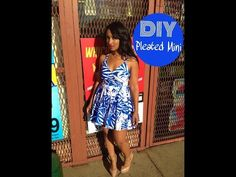 DIY: Pleated Mini Dress - YouTube