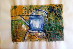 Im Garten von Paul Cézanne - Aquarell - Ilse
