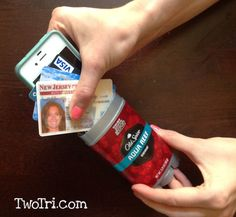 DIY deodorant cell phone/ID disguise! Perfect to keep your stuff safe when you're doing a triathlon!