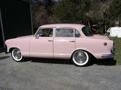 "1960 Pink Rambler  First car I drove 3 gears on the column. Mine was white. Called her ""Baby"" Sure it was the '80s, what's your pt?"
