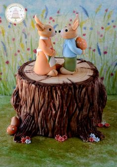 A Painted Easter - Easter Bunny Surprise - Cake by Sugarpatch Cakes.  mrp