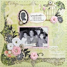 Contempo Cage Die-namics and Stamp Set, Medium Leafy Flourish Die-namics, Layered Rose Die-namics, Vintage Cameo Frame Die-namics and Stamp Set - Mona Pendleton