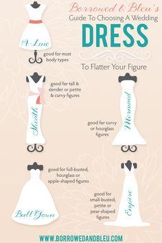 Choosing a Wedding Dress to Flatter Your Figure - Borrowed & Bleu