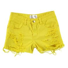 Shorts Destroyed Amarelo