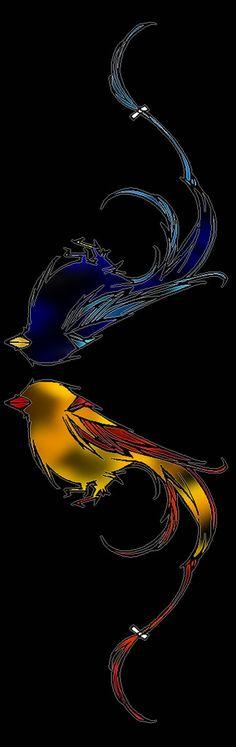 birds -symmetry vertical