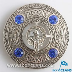 Forrester Clan Crest Plaid Brooch