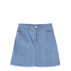 BASIC DENIM | MIX.Tokyo (1.429.365 VND) ❤ liked on Polyvore featuring tops, denim top and blue top