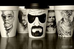 Breaking Bad Coffee Cup Art By Cheeming Boey