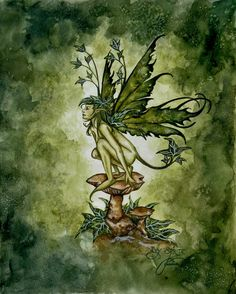 Fairy Art by Amy Brown: Ivy Sprite Beautiful Fantasy Art, Beautiful Fairies, Amy Brown Fairies, Dragons, Fairy Drawings, Fairy Tattoo Designs, Unicorns And Mermaids, Fairy Pictures, Love Fairy