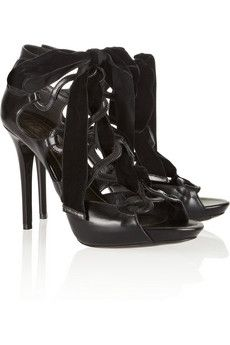 Alexander McQueen Cutout leather sandals | THE OUTNET