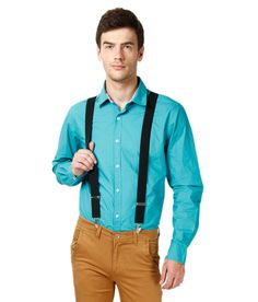Civil Outfitters Radiant Black Men'S Suspender With Red Dot Bow