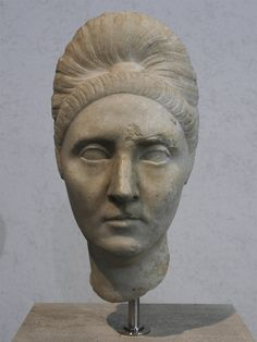 Plotina. Marble. 110—120 C.E. Height 35 cm. Inv. No. 339. Rome, Roman National Museum, Palazzo Massimo alle Terme. (Photo by Sergey Sosnovskiy).
