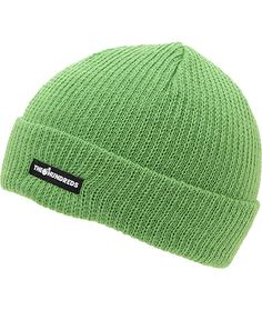 Keep it simple yet stylish with the clean look of a new The Hundreds Crisp green fold beanie. Stay fresh all day with the tight ribbed knit all-acrylic green colorway that can be word as a fold or slouch beanie and a black The Hundreds brand tag embroider