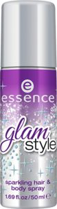 glam style sparkling hair & body spray 01 diamonds in the sky - essence cosmetics