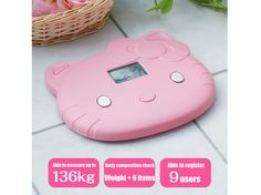 Hello Kitty Digital Body Composition Weight Scale Pink Sanrio JAPAN