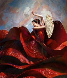 Red is the color of spain, and flamenco its passion. Via PostTeenageLiving. #dance #art #red