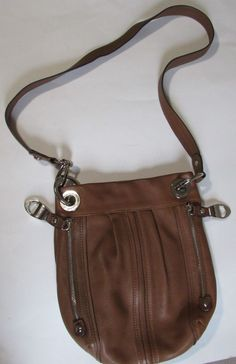 4bdf99ca74 B Makowsky Crossbody Bag Caramel Pebbled Leather Silver Hardware Pockets  GUC  BMakowsky  Crossbody Crossbody