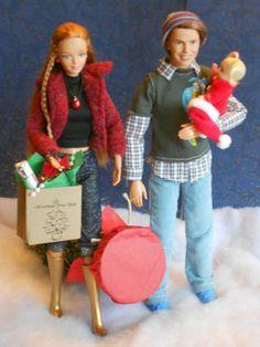 "Barbie Happy Family Dolls OOAK""O Christmas Tree""Alan Midge Nikki Find A Tree | eBay"