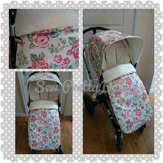 Hood and footmuff made in cath kidston fabric lined in a premium smooth cuddle fabric. ❤️ cath kidston