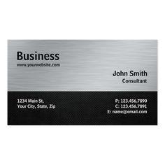 Professional Modern Silver Metal Computer Repair Business Card