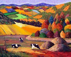 miradadebruja: Gene Brown, the exaltation of color ...!