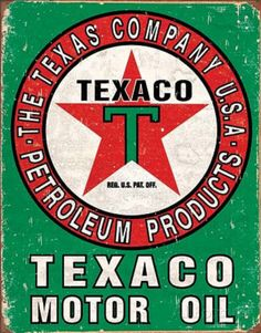 Texaco Oil Weathered Tin Sign Tin Sign at AllPosters.com