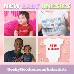 Gifts For New Parents, New Dads, Cool Tee Shirts, Cool Tees, Advertising Space, Fun Board Games, Geek Gifts, Game Design, New Baby Products