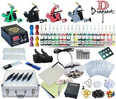 Complete Tattoo Kit 4 Machine Guns Set Equipment Power Supply 40 Color Inks *** You can find out more details at the link of the image.