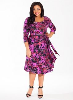 Taryn Plus Size Dress in Amethyst Allure #plussize