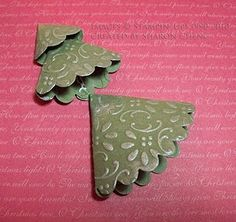 Scalloped Circle Christmas trees