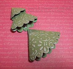 Scalloped Circle Christmas trees - Love this idea!  So adorable!