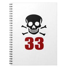 #33 Birthday Designs Notebook - #giftidea #gift #present #idea #number #33 #thirty-third #thirty #thirtythird #bday #birthday #33rdbirthday #party #anniversary #33rd