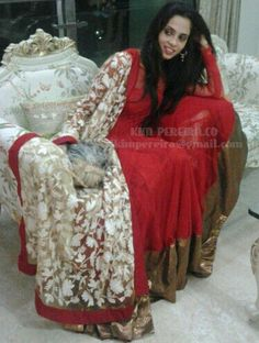 Red Butterfly Anarkali by KimPereiraF on Etsy, $235.00