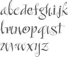 cute, kooky type of font, would LOVE to see some capitals though 😞 not sure of it's name, via google image search