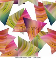 Seamless triangle bright pattern background geometric abstract texture  - stock photo