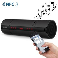 Portable KR8800 NFC FM HIFI Bluetooth Speaker Wireless Stereo Loudspeakers Super Bass Caixa Se Som Sound Box Hand Free for Phone
