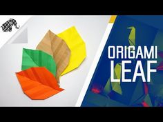 Origami - How To Make An Origami Leaf - YouTube